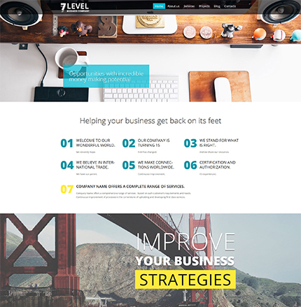 Business Company WordPress Template