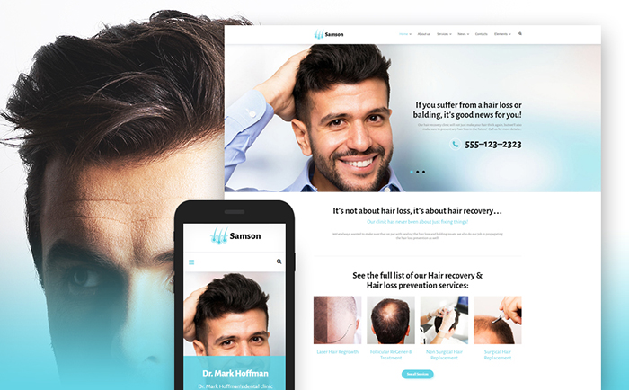 Samson - Hair Salon WordPress Theme