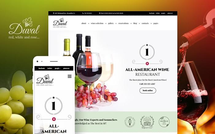 Duval - Wine & Winery WordPress Theme