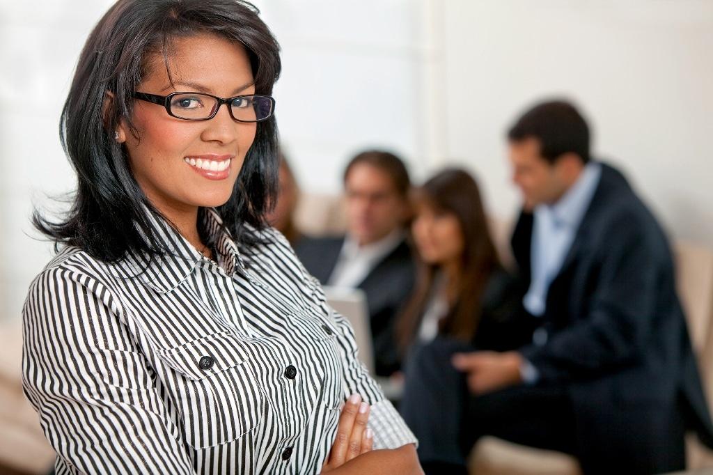 african american business woman team leader