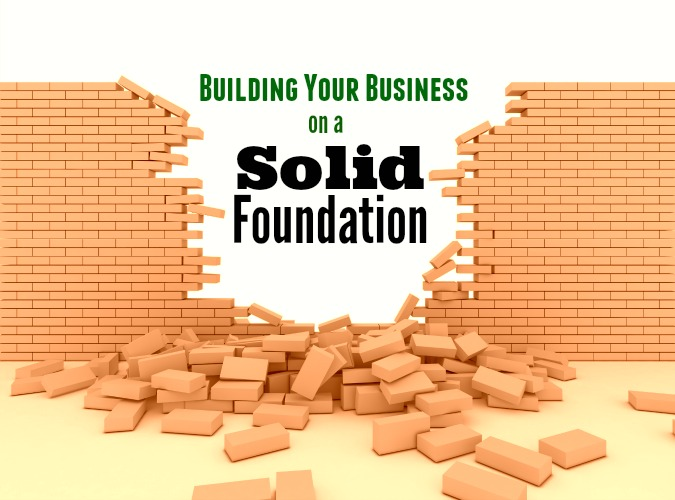 building business cement blocks wall broken bricks