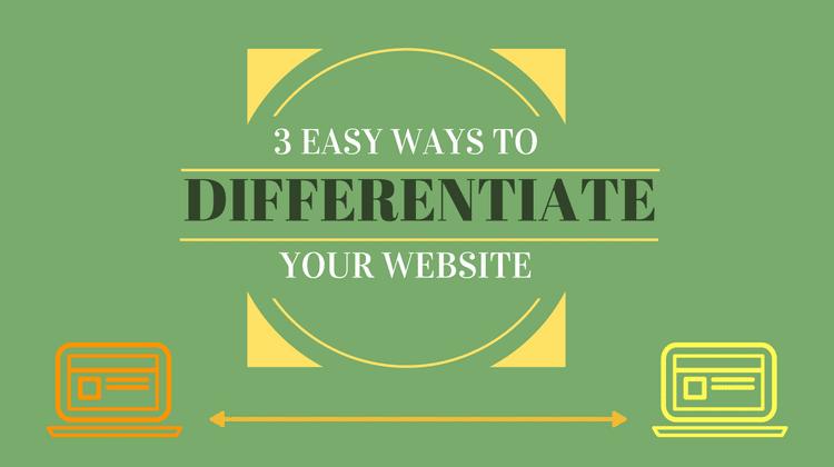 differentiate your website