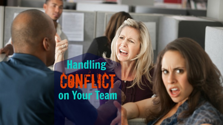 team conflict workers argue cubicles