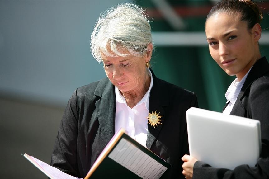 women senior mature executive assistant mentor